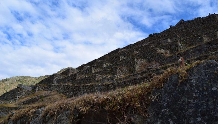 Photography of the steps at Machu Picchu in Cusco, Peru